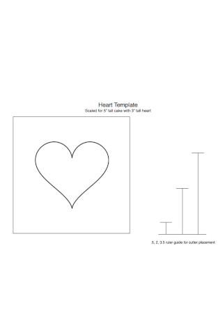 Tall Heart Template