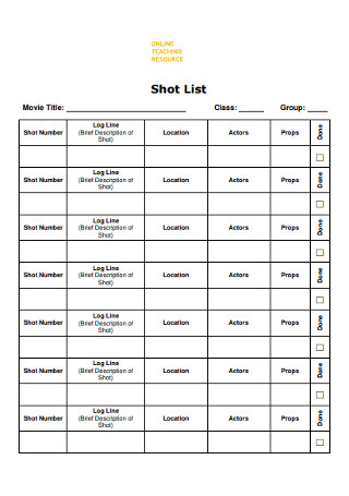 Film Shot List Template from images.sample.net