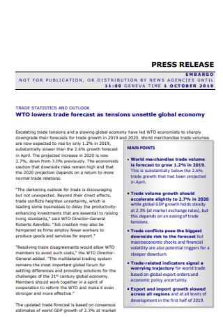 Trade Organization Presee Release