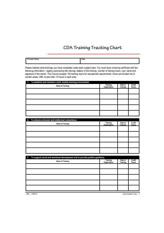 Training Tracking Chart