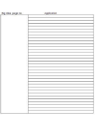 Two Column Note