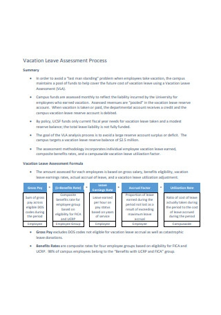 Vacation Leave Assessment Process