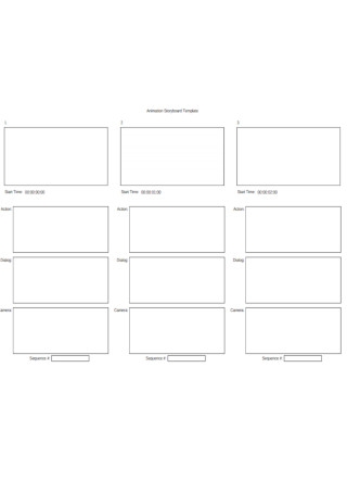 Animation Story board Template