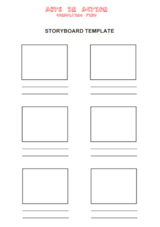 Arts in Action Storyboard Template