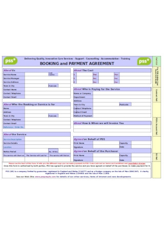 Booking and Payment Agreement