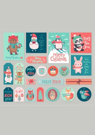 Christmas Cards and Gift Tags Set