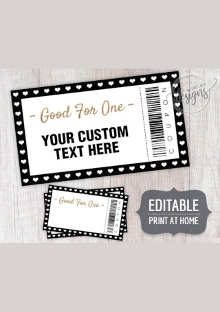 Christmas Editable Coupons Template