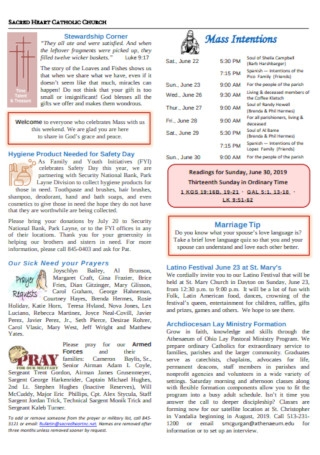Church Event Bulletin Template