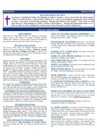 Church Second Sunday Bulletin Template