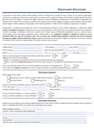 College Disciplinary Probations Template