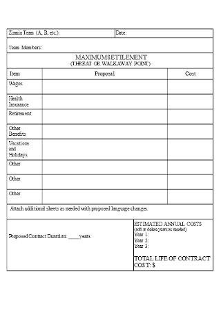 Corporate Propossal Worksheet Template