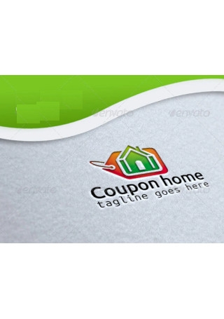 Coupon Home Vector Logo Template