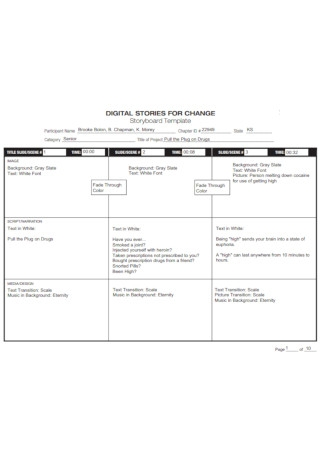 Digital Stories for Change Storyboard Template
