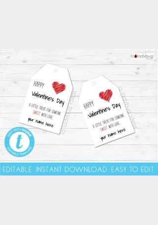 Editable Valentines Day Gift tags