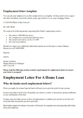 Employement Probation Period Letter
