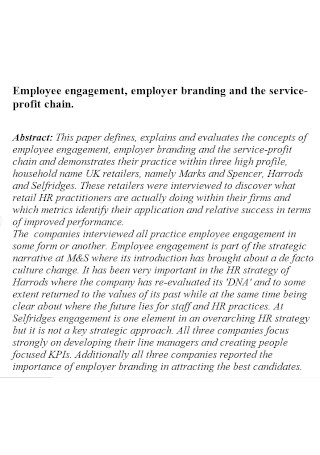 Employer Engagement Branding Template