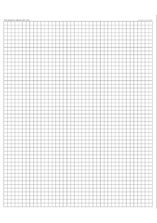 Five Saquares Equals One inch Graph Paper Template