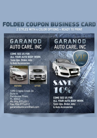 Folded Coupon Card Template