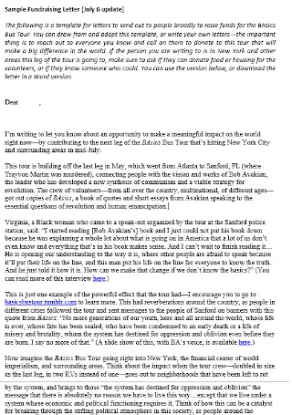 Formal Fundraising Letter Template