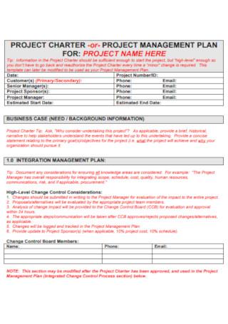 Formal Project Management plan