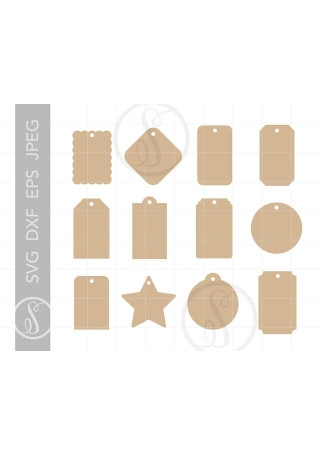 Gift Tag Cut File Templates
