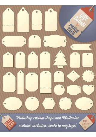 Gift Tag and Price Label Shapes