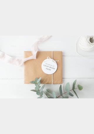 Gift tag mockup styled stock image