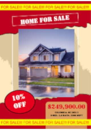 Home for sale flyer poster