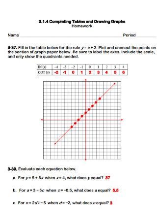 Homework Graph Paper Template