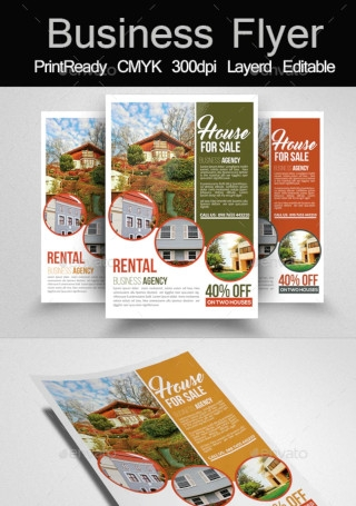 House For Business Sale Flyer Templates