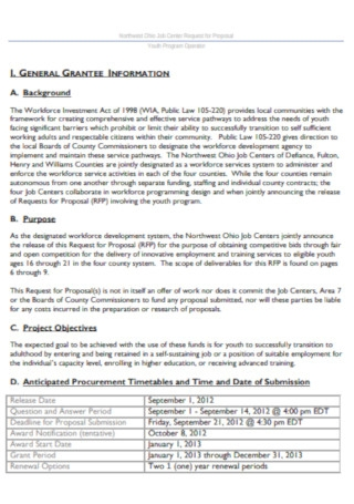 Job Center Request for Proposal