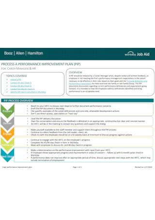 Managers Performance Improvement Plan