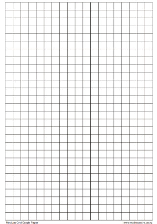 Medium Grid Graph Paper