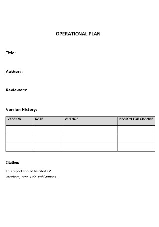 Operational Management Plan Template