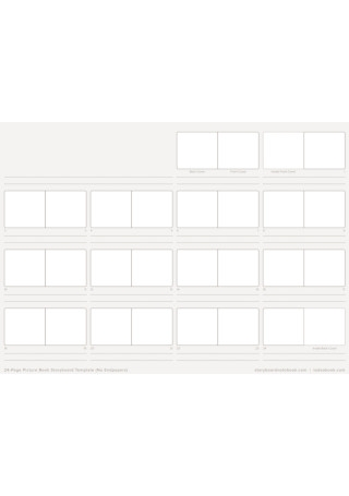 Picture Book Storyboard Template