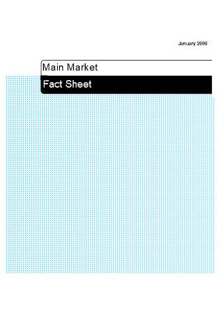 Primary Market Factsheet Template