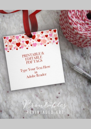 Printable Valentines Day Gift Tag Template