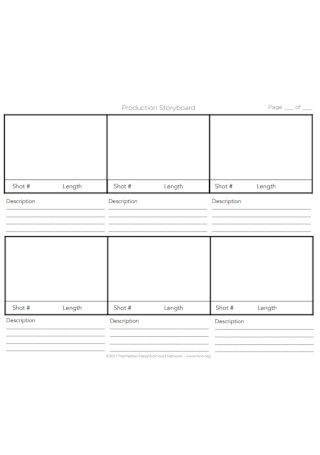 Production Storyboard Template