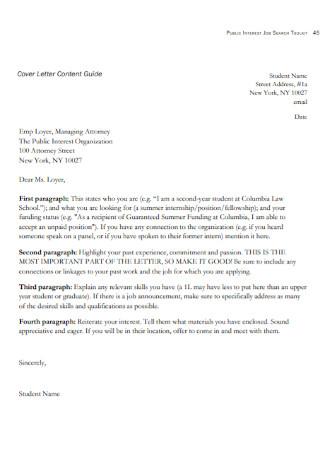 Public Interest Cover Letters