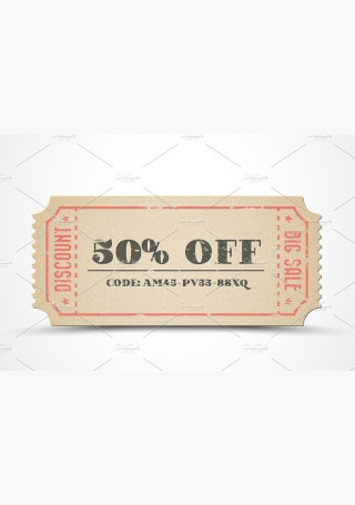 Retro paper sale coupon