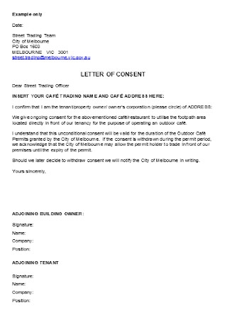 Sample Consent Letter Example