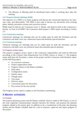 Sample Master Project Management Plan