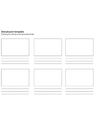 Sample Planning Storyboard template