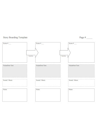 Sample Story Boarding Template
