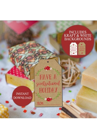 Scentsational Holiday Gift Tag Template