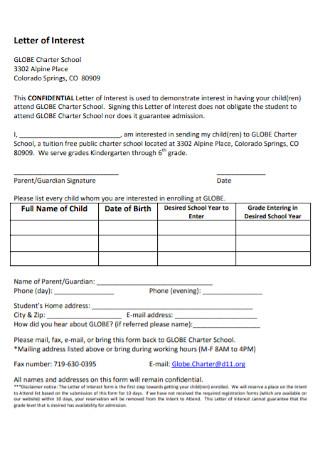 Standard Letter of Interest Template