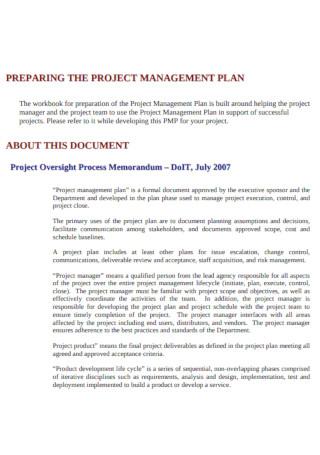 Standard Project Management Plan