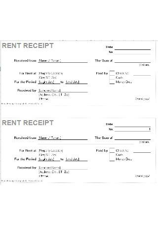 Standard Rent Receipt Template