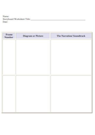 Storyboard Worksheet