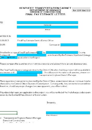 Tenant Final Pay Letter